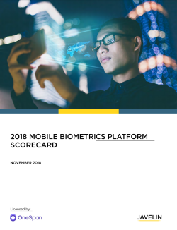 Javelin Mobile Biometrics Platform